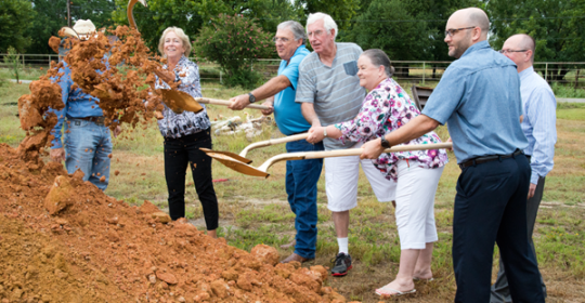 Groundbreaking for new Bullard Mission House and Mission Clinic